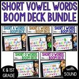 Boom CARDS Distance Learning | Short Vowel Words BUNDLE