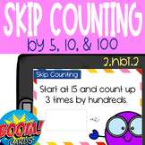Boom Cards: Skip Counting by 5, 10, and 100