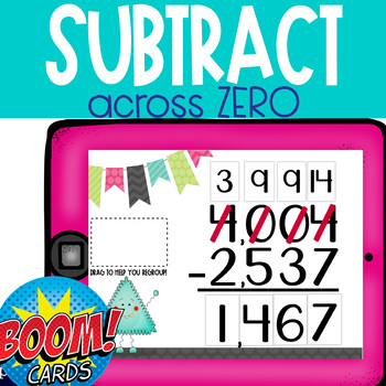 Boom Cards: Subtract Across Zero