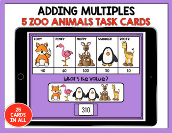 Boom Digital Task Cards ~ Addition using Friendly Numbers