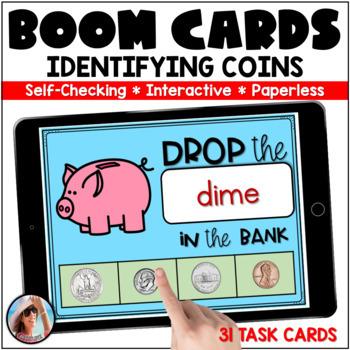 Boom Digital Task Cards ~ Identify Coins