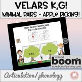 Free Boom Digital Task Cards:  Velars K,G  Minimal Pairs