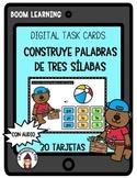 Boom Cards in Spanish- Palabras de tres sílabas