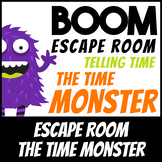 Boom Cards | Escape Room: Time Monster Telling Time | Dist