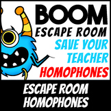 Boom Cards   Escape Room: Homophones   Distance Learning