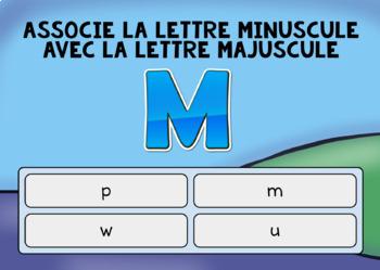 Boom Learning: Associer la lettre majuscule à la lettre minuscule