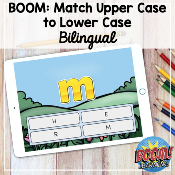 Boom Learning: Associer la lettre minuscule à la lettre majuscule