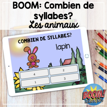 Boom Learning: Les syllabes (animaux)