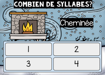 Boom Learning: Les syllabes (l'hiver)