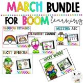 Boom Learning March Digital ELA Literacy Activities Kindergarten