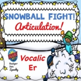 "Boom:  Snowball Fight Articulation Freebie:  Vocalic ""er"" Speech Therapy"