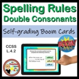 Spelling Rules Double the Consonant BOOM Cards Digital Spelling