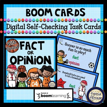 Boom Task Cards ~ Fact or Opinion ~ Sports Themed