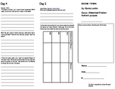 Boom Town Tri-fold connected practice activity