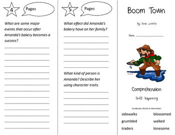 Boom Town Trifold - California Treasures 3rd Grade Unit 2 Week 1