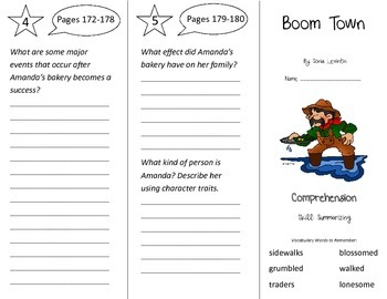 Boom Town Trifold - Treasures 3rd Grade Unit 2 Week 1 (2011)