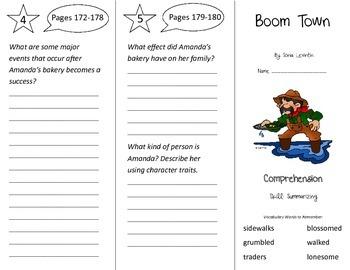Boom Town Trifold - Treasures 3rd Grade Unit 2 Week 1 (2011)