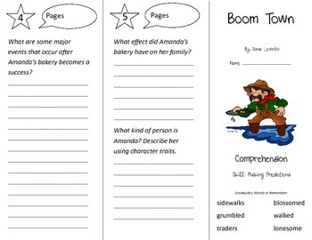 Boom Town Trifold - Treasures 3rd Grade Unit 5 Week 1 (2009)