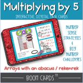 Boom cards multiplying by 5 with a rekenrek | multiplicati