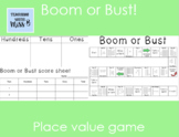 Boom or Bust Place Value Game FREEBIE!