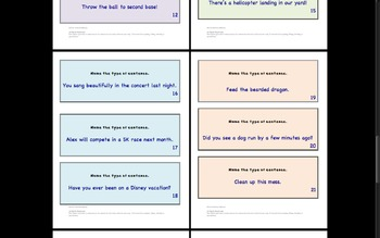 Boom!Boom! Types of Sentences Identification Game