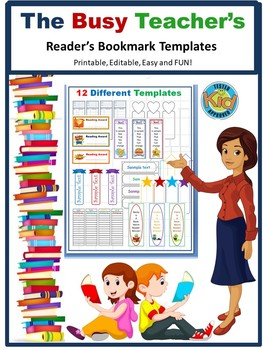 bookmark templates editable word printables reading by the variety store