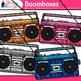 Boombox Radios Clip Art {80's Retro Music Graphics for Wor