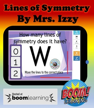 Distance Learning Boomcards- Lines of Symmetry- Boom Cards