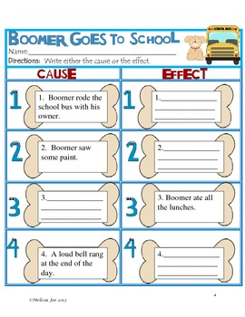 Boomer Goes to School--Back to School Math and Literacy Activities