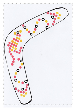 Boomerang- Aboriginal Dot Art
