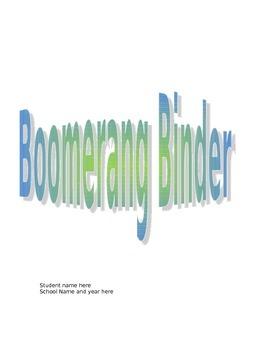 Boomerang Binder