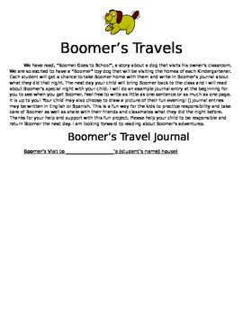 Boomer's Travels - a take-home packet to share!