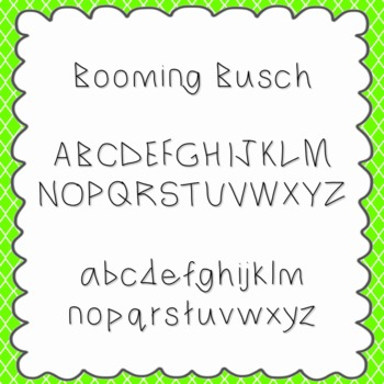 Booming Busch Font {personal and commercial use; no licens