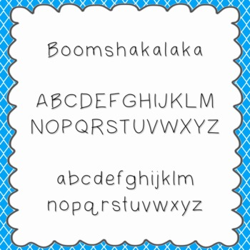 Boomshakalaka Font {personal and commercial use; no license needed}