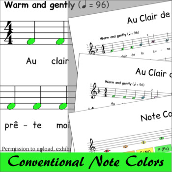 Au Clair de la Lune - Boomwhackers® Sheet Music