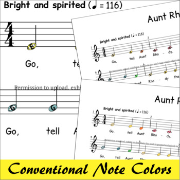 Aunt Rhody - Boomwhackers® Sheet Music