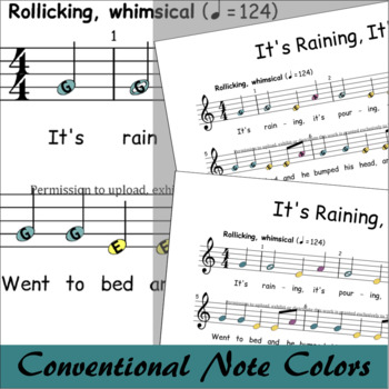 It's Raining, It's Pouring - Boomwhackers® Song Sheet Music