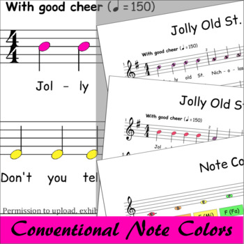 Jolly Old St.Nicholas - Boomwhackers® Sheet Music