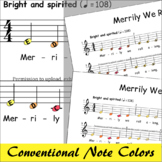 Merrily We Roll Along - Boomwhackers® Music Colored Notes