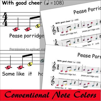 Peas Porridge Hot - Sheet Music Boomwhackers® Bells Glockenspiel
