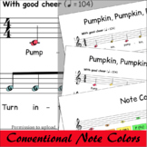 Halloween Sheet Music Boomwhackers® - Pumpkin Pumpkin Round And Fat