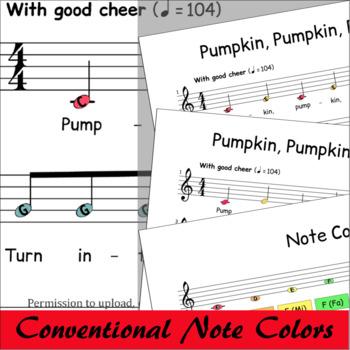 Halloween Sheet Music Boomwhackers® - Pumpkin Pumpkin Round And Fat