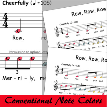 Boomwhackers® Sheet Music Row Row Row Your Boat - Dotted