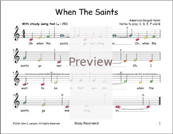 When The Saints - Sheet Music Boomwhackers®