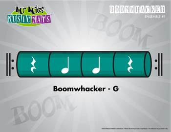 Boomwhackers Color-Coded Green (G) plays on beats two and three