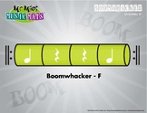 Boomwhackers Color-Coded Lime Green (F) plays on beats One