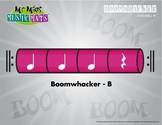 Boomwhackers Color-Coded Magenta (B) plays on beats one-tw
