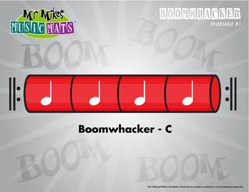 Boomwhackers Color-Coded Red (C) plays on beats one-two-th