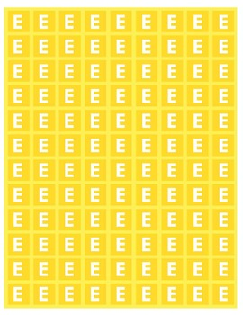 Boomwhacker Color-Coded Yellow E Note Tile Sheet