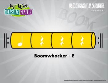 Boomwhackers Color-Coded Yellow E plays on beat one